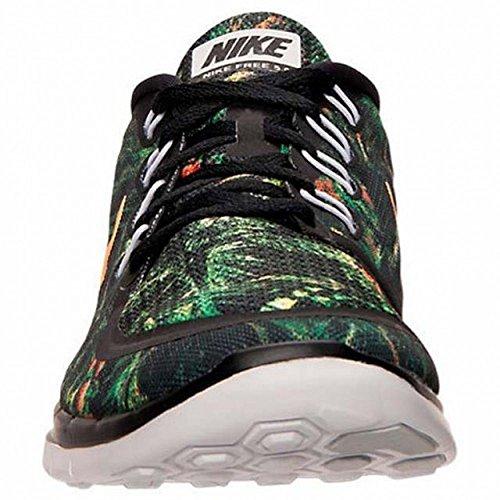 Nike Mænds Fri 5,0 Solhverv Løbesko Sort / Ren Platin / Lyse Citrus 13 D (m) Os