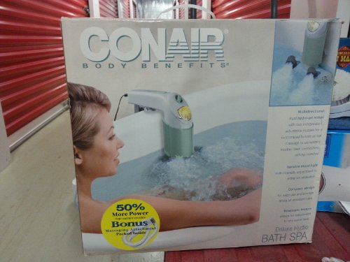 Hydro Spa Jets (Conair Deluxe Hydro Bath Spa -Dual Jet /With Bonus Massaging Attachment Included)