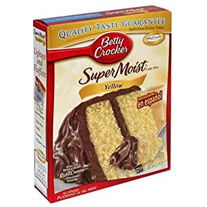 Betty Crocker Supermoist Cake Mix, Yellow, 18.25-Ounce Boxes (Pack of 12)