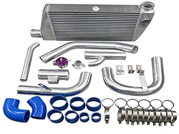 Intercooler de montaje frontal Kit Mitsubishi Lancer Ralliart Turbo W/BOV: Amazon.es: Coche y moto