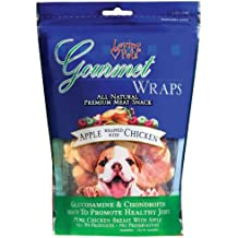 Loving Pets All Natural Premium Apple and Chicken Wraps with Glucosamine and Chondroitin Dog Treats, 6 oz