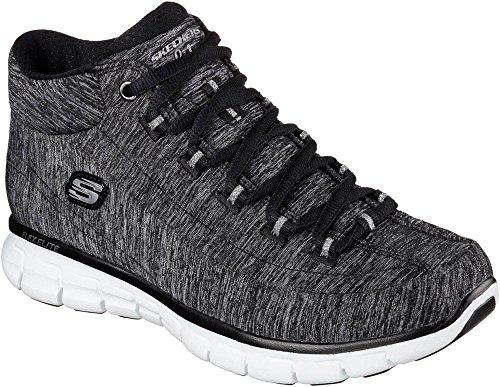 Skechers, Sneaker donna multicolore Black/White