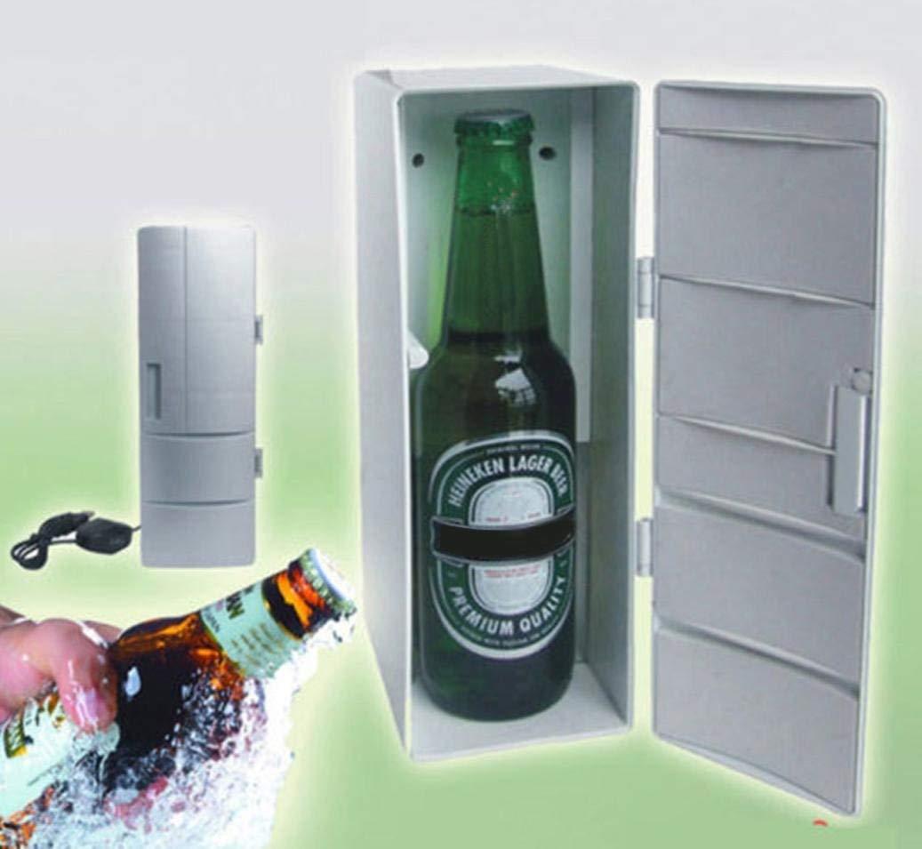 Portable USB Desktop Mini Refrigerator Beverage Cooler Freezer Fridge Durable