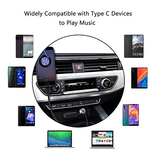 Audi AMI to Type C Aux Cable, VIMVIP WV AMI MDI to USB Type C Audio Aux Adapter Cord [DAC Chip] Compatible with Pixel 2/XL HTC U11/U12+ Moto Z2 Samsung LG V30 Huawei New Macbook for Audi WV (3.3FT) by VIMVIP (Image #4)