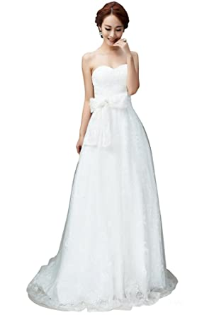 Clearance Sale! WeiYin Women\'s Sweatheart Lace Wedding Dresses ...