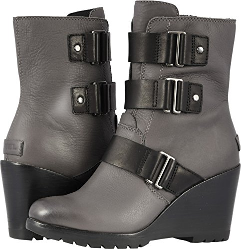Sorel Womens After Hours Bootie Motorcycle Rain Boot, Quarry, Size 7 (Rain Boots Motorcycle)