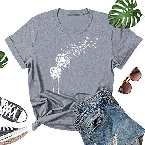 Risaho Damen T-Shirt Kurzarm Fledermaus Bluse Sommer Shirt Lose Stretch Oberteil Tops Sommerblusen Festliche Tops
