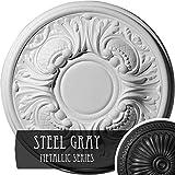 Ekena Millwork CM11WASGS 11-3/4'' x 1-1/4'' Wakefield Ceiling Medallion, Steel Gray