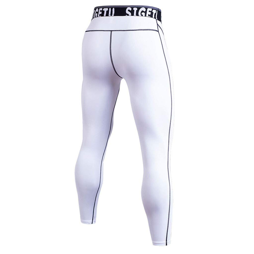 UOFOCO Men Tight-Drying Sports Pants Training Bodybuilding Workout Fitness Long Pants