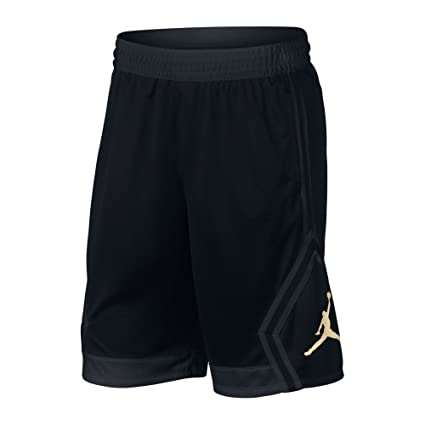 f4791e07901 Amazon.com: Nike Mens Jordan Rise Diamond Basketball Shorts Black/Gold  887438-014 Size Small: Sports & Outdoors