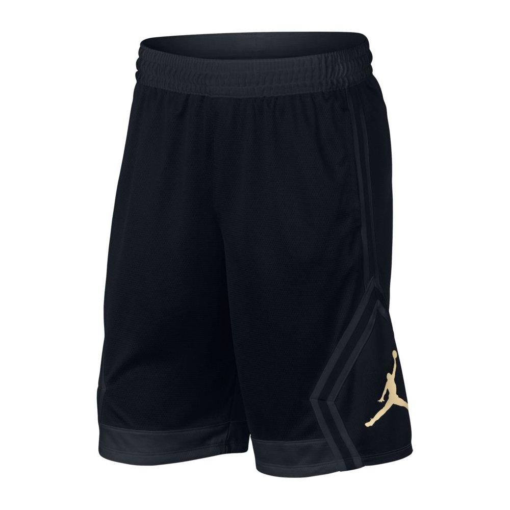 7e5202c4b96 Amazon.com: Nike Mens Jordan Rise Diamond Basketball Shorts Black ...