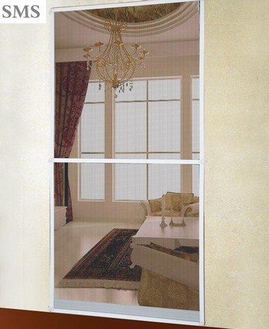 Alu Insektenschutztür Fliegengitter Tür 100 x 220 cm oder 120 x 210cm Farbe - Weiß oder Braun mit Alu Profil (Weiß, 100 x 220cm)