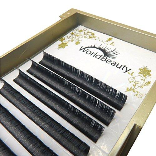 Primer Black Ellipse Flat Eyelash Extensions 0.20mm Thickness C Curl 14mm for Professional Salon Use