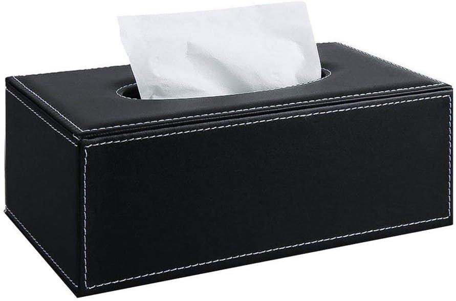 Distributeur De Papier pour La Maison Et De Voiture D/écoration Noir Gcroet 1pc Polyvalent Tissue Box PU Porte-bo/îtes /À Mouchoirs en Cuir