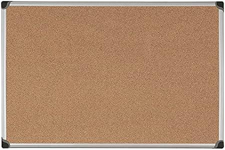 Bi-Office Maya W - Tablero de corcho con marco de aluminio, 120 x 90 cm