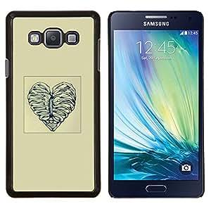 KLONGSHOP // Cubierta de piel con cierre a presión Shell trasero duro de goma Protección Caso - Deshuesar corazón del amor - Samsung Galaxy A7 A7000 //