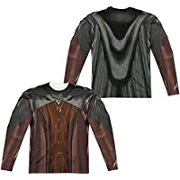 Lord Of The Rings Frodo Costume (Front/Back Print) Mens Long Sleeve Sublimation Shirt
