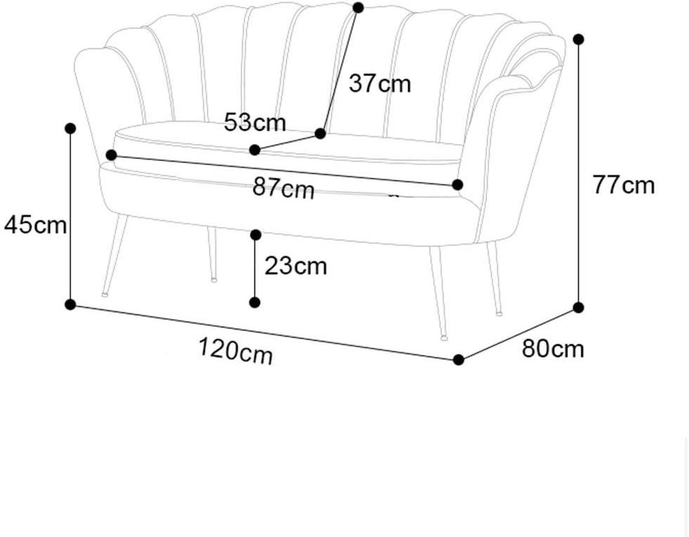 2 posti Divano, High-End Camera da Letto Lounge Couch, Luna a Forma di Poltrona 113-S (Color : Giallo) Grigio