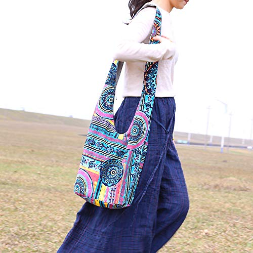 Ethnic Style Bag Lady's Everyday Crossbody Shoulder Bags Women Tourist Cotton Fabric Bag by miaomiaojia (Image #3)