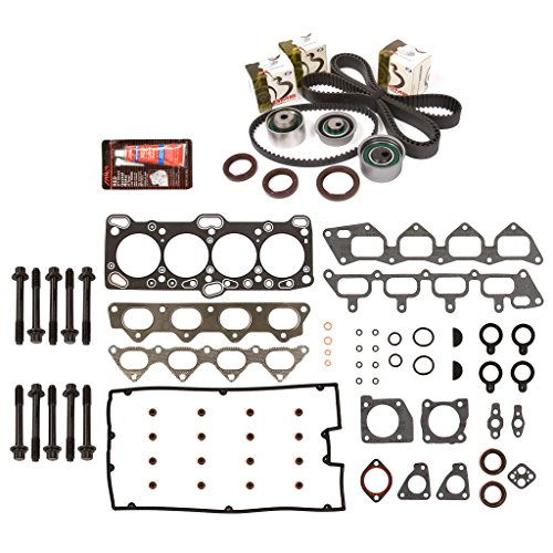 Evergreen HSHBTBK5007 Head Gasket Set Head Bolts Timing Belt Kit Fits 93-98 Mitsubishi Eagle Plymouth 4G63 4G63T ()