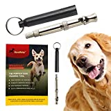 forepets Professional Dog Whistle to Stop Barking | with Proven Training Guide | Best Anti Loss Version | Free Lanyard | 100% | Black