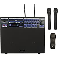 VocoPro DVD-Soundman 80W Multi-Format 4 Channel Portable Sound System with 2 Channel Wireless Mic Module