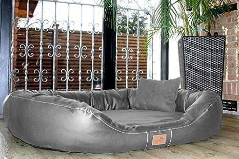 tierlando Summum Lennart Cama ortopédica para Perros con Visco Plus colchón de Piel sintética y Terciopelo. Soft-Lounge. GR. XXXL 170 cm Gris: Amazon.es: ...