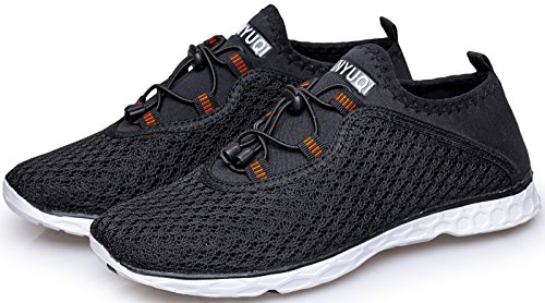 TIANYUQI Men's Mesh Slip On Water Shoes