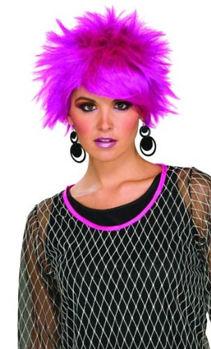 Forum 80's Pop Pixie Wig, Purple, One Size - Pixie Costume Hair