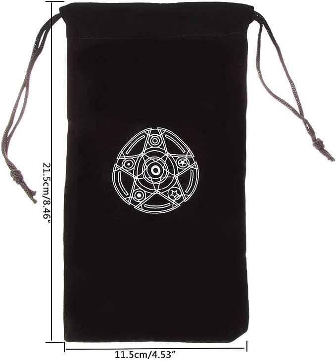 9CM Haodou Negro Cord/ón de Terciopelo Bolsas de Viaje Almacenamiento Bolsas de Cord/ón Paquetes Bolsa Joyer/ía Pendiente Collar Size 12