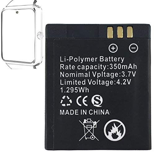 Smart watch battery GT08 rechargable lithium battery with 360MAH high capacity