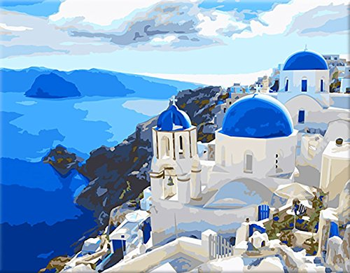 LOSTART Diy Oil Painting,Paint by Number Kit for Adult 16 by 20-Inch (Aegean Sea)