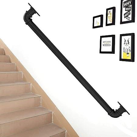Baldas Flotantes Q Negro Escalera escaleras Pasamanos barandilla Carril, Ayuda del Kit, for los discapacitados, Ancianos o niño en el Interior Exterior Interior al Aire Libre (Size : 100cm): Amazon.es: Hogar