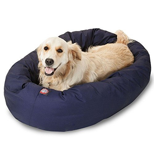 Bagel Dog Bed - Majestic Pet 40 inch Blue Bagel Dog Bed Products