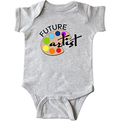 Artist Baby Onesie (inktastic Future artist With Paints Infant Creeper 6 Months Heather Grey)
