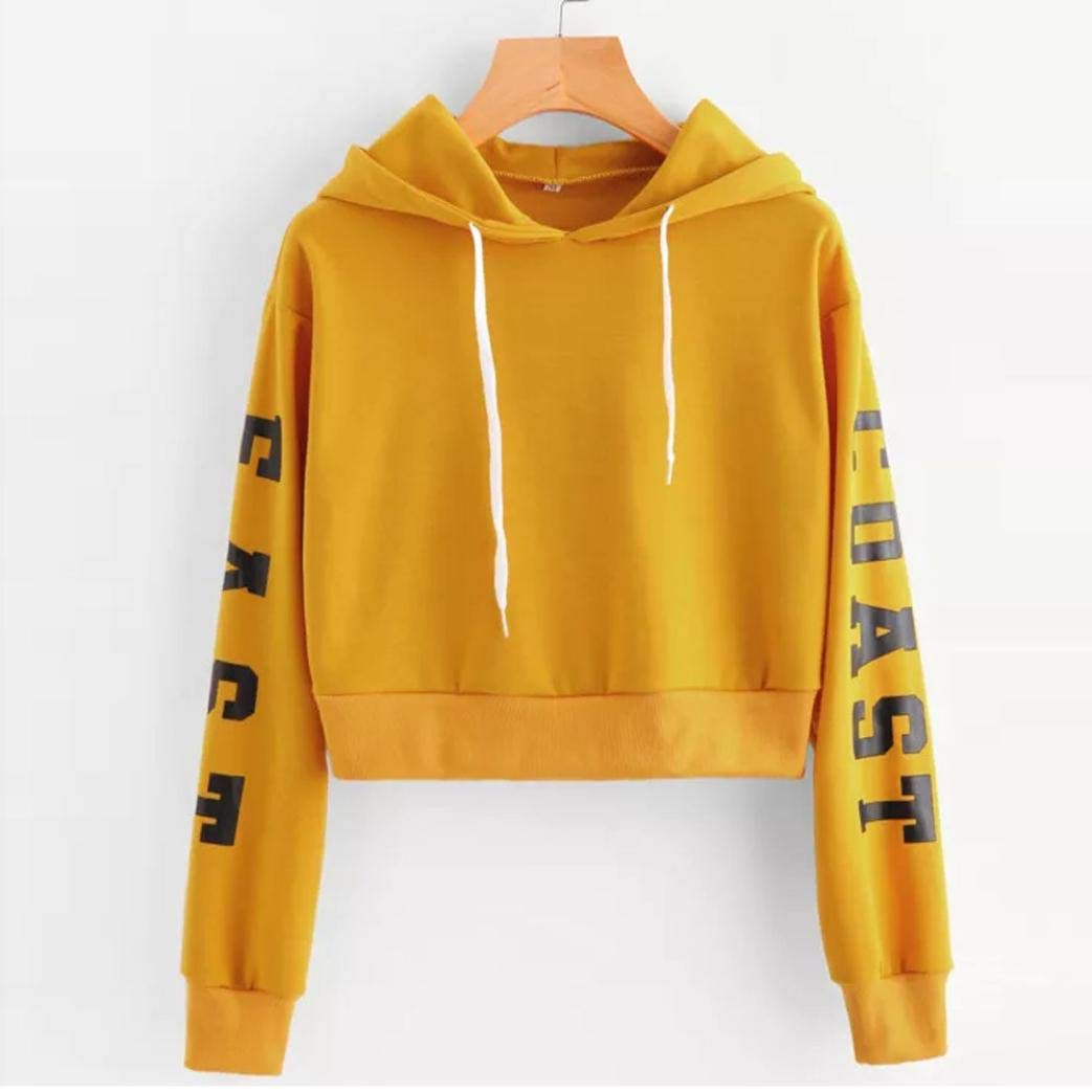 Amazon.com: Clearance Sale Women Long Sleeve Hoodie Sweatshirt,Vanvler Ladies Letter Print Top Short Blouses Pullover (US 12/XL, Black): Beauty