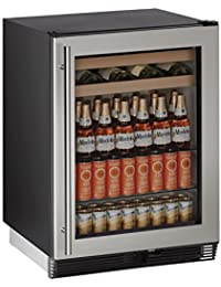 U-Line U1024BEVS00B 24 Built-in Beverage Center, Stainless Steel