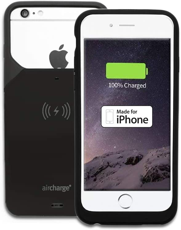 Aircharge Official Made for iPhone (MFi) Certified Wireless Charging Protective Case for iPhone (iPhone 66S – Black)