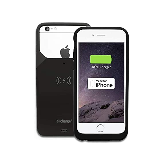 wholesale dealer 174c4 5e6fb Aircharge Wireless Charging Case for Apple iPhone 6/6S - Black