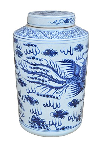 Sarreid 40179 Flying Dragon Lidded Jar by Sarreid