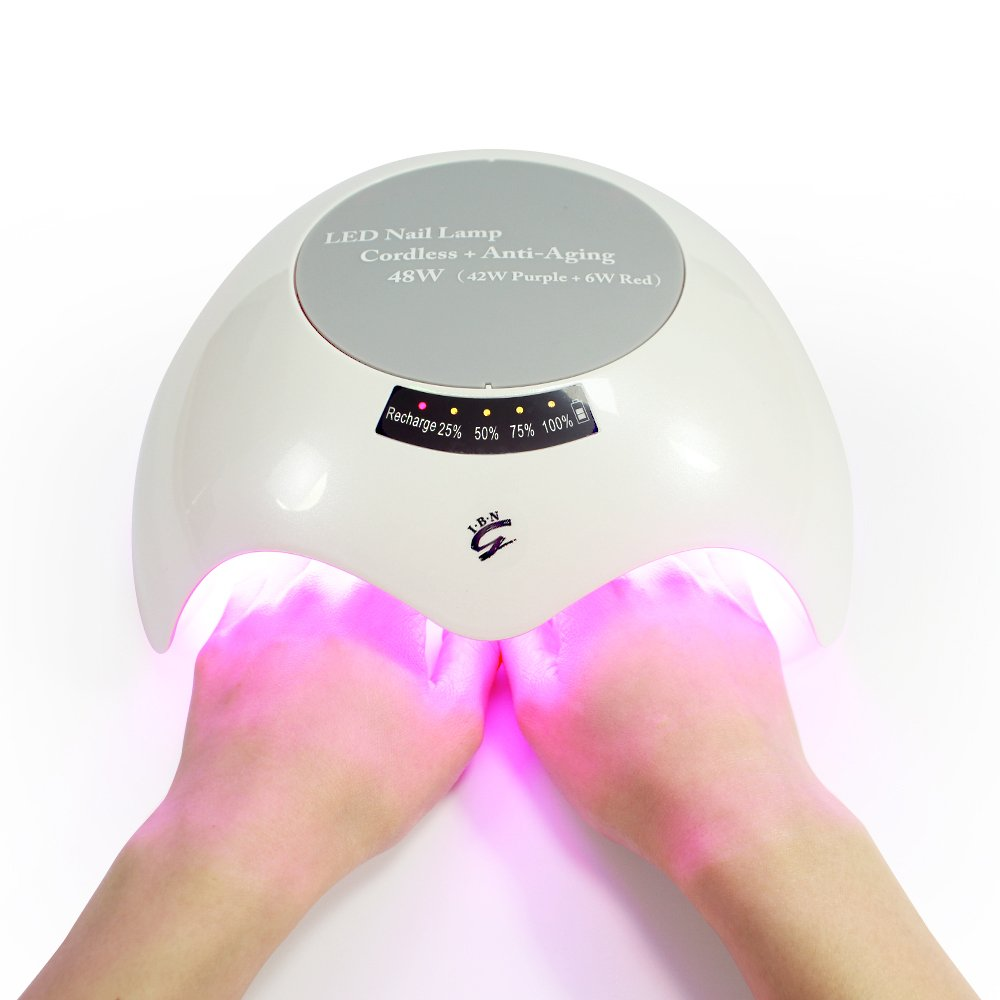 Professional 48 W LED UV Nail Lamp Gel Nail Dryer with Cordless ...