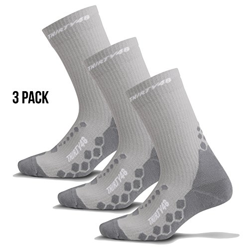 Light Hiking Socks for Men & Women by Thirty 48 - Anti-Odor & Moisture Wicking