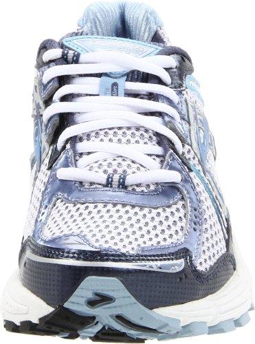 Brooks Womens Adrenaline Gts 12 Scarpe Da Corsa Bianco / Notte Ombra / Blu Polvere / Lavaggio Pietra / Argento