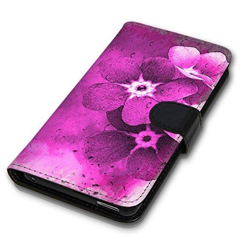 Wallet Book Style Flip Handy Tasche Case Schutz Hülle Schale Motiv Etui für Apple iPhone 5 / 5S - Design Flip MVD269
