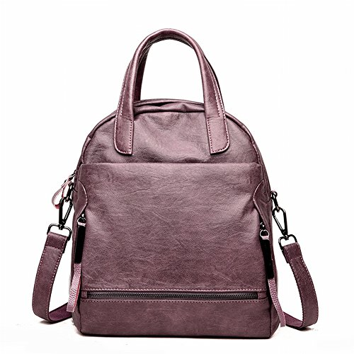Éclair mezzanine Lightening Éclair dos Sac Surface épaule portable PU à de à Cuir simple résistant violet Pure étanche doux l'abrasion Sac de Couleu Poignée à téléphone Poche Fermeture hanche fermeture Femme a7SUWwqnx