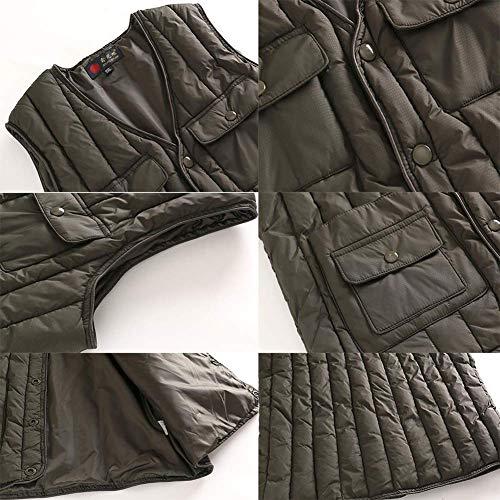 Fuweiencore Mid Senza 2 Piumino colore Giacca Maniche Xxl Maglia 1 2 Bodywarmer Leggero Invernale Confortevole Colore Inverno Age Dimensione Semplice Xl Da Uomo Caldo rrAxqw4ft