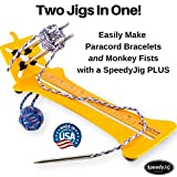 SpeedyJig PLUS Paracord Bracelet Kit with Monkey Fist Jig | Two Complete Full Size Jigs in One Easy to Use System | USA Built Kit Includes Everything You Need to Make Bracelets and Monkey Fists