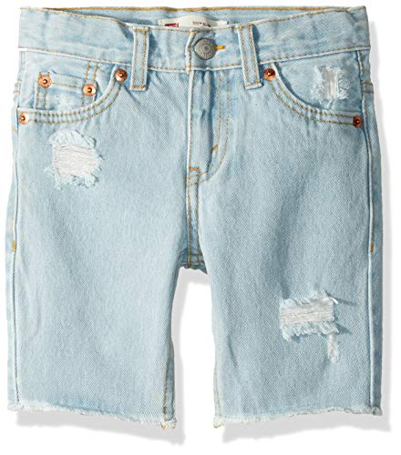 Levi's Boys' Toddler 511 Slim Fit Denim Shorts, Light Breeze, 2T]()