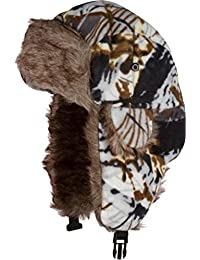 Sakkas Yehuda Unisex Camouflage Faux Fur Lined Chin Strap Winter Trooper Hat