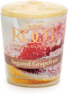 product image for Root Candles 20-Hour Scented Beeswax Blend Votive Candles, 18-Count, Sugared Grapefruit